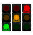 traffic lights red orange green lights vector image