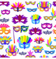 venice carnival mask with feathers and beads vector image