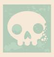 vintage design a skull in art vector image