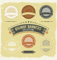 vintage grunge banner and labels collection vector image vector image