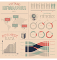 Vintage infographics design elements vector image vector image