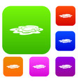 water puddle set color collection vector image vector image