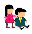 Women encourage her husband who is depressed vector image vector image