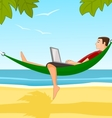 Work on a beach vector image