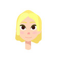 young girl with big brown eyes and yellow hair vector image