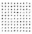 Set of 100 icons for web vector image