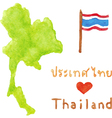 Thailand map and flag vector image