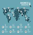 Modern design world infographic template vector image