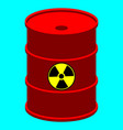 barrel with nuclear waste vector image