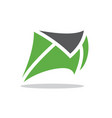 a quick mail or a running mail vector image