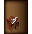 A Retro Pipe Organ on Dark Brown Background vector image