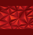 abstract red triangle polygon pattern background vector image