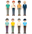 Bachelors without faces vector image vector image