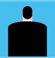 back boss isolated businessman vector image