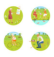 banners of retired elderly vector image vector image