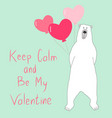 bear-valentine vector image