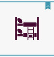 bed icon simple furniture sign vector image