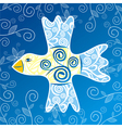 Bird floral pattern background vector image