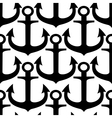 Black and white anchors seamless pattern vector image vector image