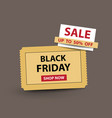 black friday stub ticket vector image