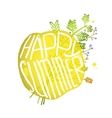 bright yellow circle bubble with sign happy vector image vector image