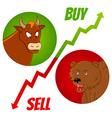 bull and bear1 vector image