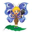 butterfly make up vector image vector image