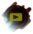 button video player social media youtube vector image