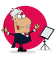 Cartoon conductor vector image vector image