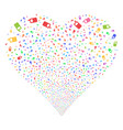 cell phone fireworks heart vector image vector image