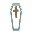 coffin halloween decorative icon vector image