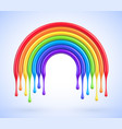 colorful rainbow arch with dripping paint vector image