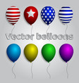 colorful realistic helium balloons isolated set vector image vector image