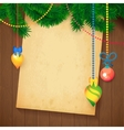 Decorated Christmas Tree Branch New Year vector image vector image