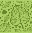 doodle leaf pattern vector image vector image