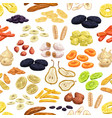 dried fruits slices and stripes seamless pattern vector image