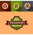 flat bio premium design elements vector image vector image