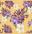 floral pattern in many kind flowers vector image