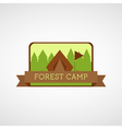 Forest Camping logo Wilderness adventure badge vector image vector image