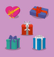 gifts with bows design vector image