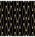 Golden line pattern on dark background vector image vector image