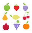 grunge fruit set vector image vector image