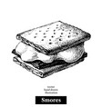 hand drawn sketch smores wafer crackers vector image