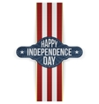 Happy Independence Day Banner with Ribbon vector image