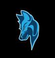 head wolf vector image vector image