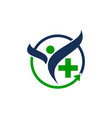 healthy holistic center vector image vector image