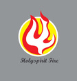 Holy spirit Fire Logo vector image vector image
