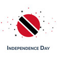independence day of trinidad patriotic banner vector image