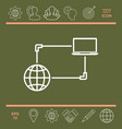 internet connection data exchange transfer vector image vector image