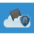 internet security cellphone cloud padlock vector image